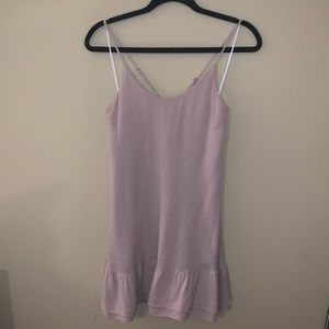 Lulu's blush colored mini dress